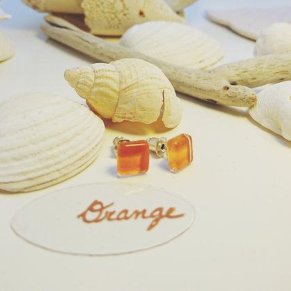 Boucles D'Oreilles • puce • Orange