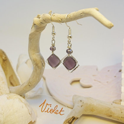 Boucles D'Oreilles • Pixel• Violet