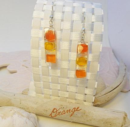 Boucles D'Oreilles • Bonbon• Orange