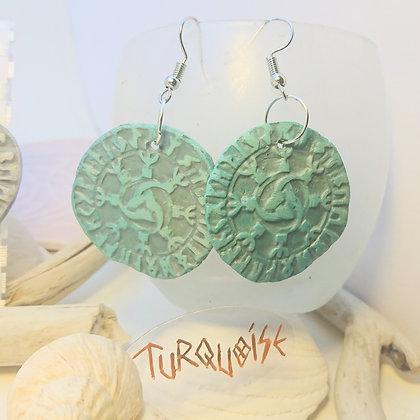 Viking•  Cornes d'odin • Turquoise