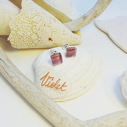 Boucles D'Oreilles • puce • Violet