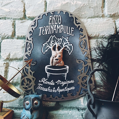 Plaque personnalisée •Topinambulle