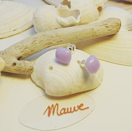 Boucles D'Oreilles • puce • Mauve