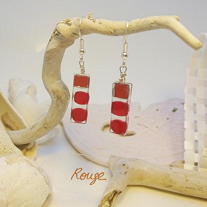Boucles D'Oreilles • Bonbon• Rouge