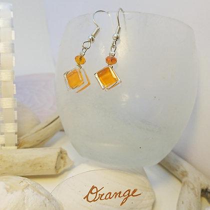 Boucles D'Oreilles • Pixel• Orange