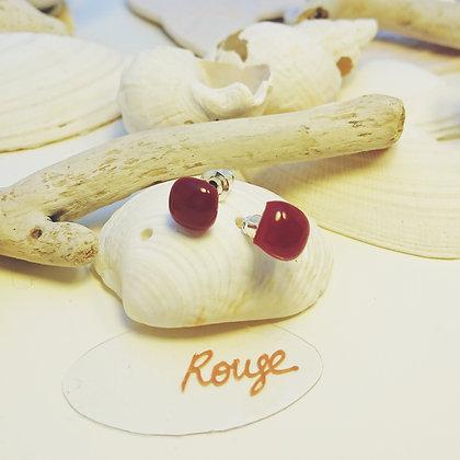 Boucles D'Oreilles • puce • Rouge