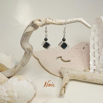 Boucles D'Oreilles • Pixel • noir