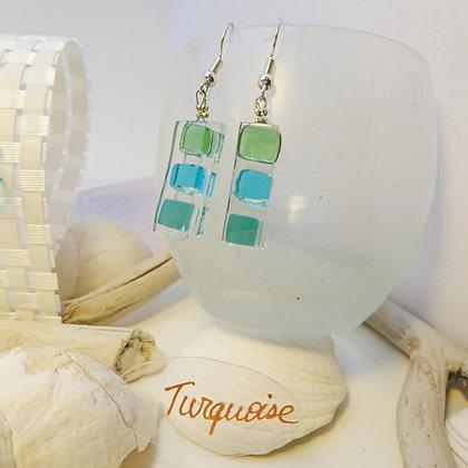 Boucles D'Oreilles • Bonbon• turquoise