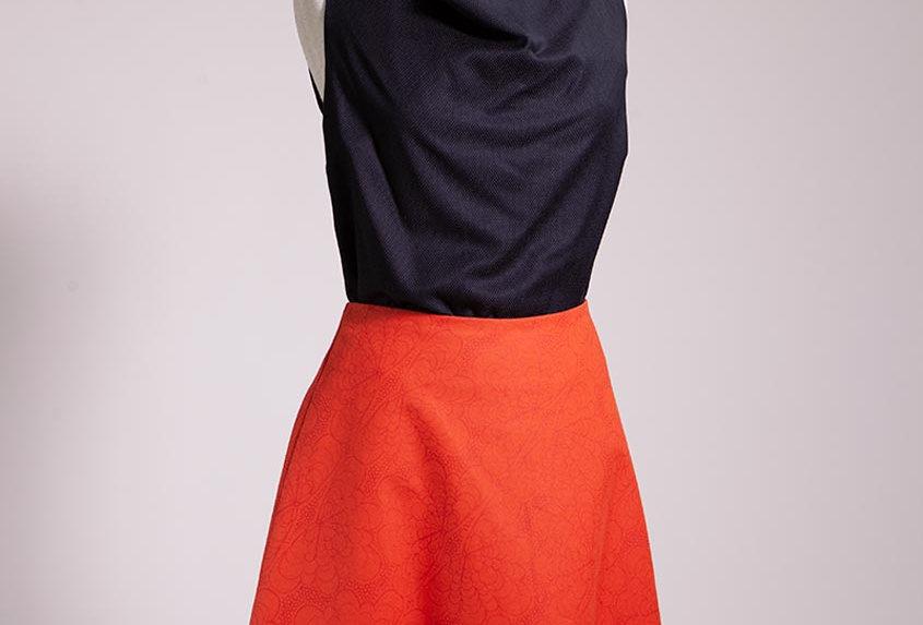 Lace Fan A-Line skirt