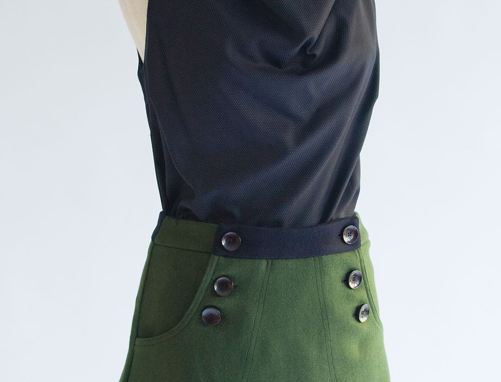 New Colours! Betty Button Skirts