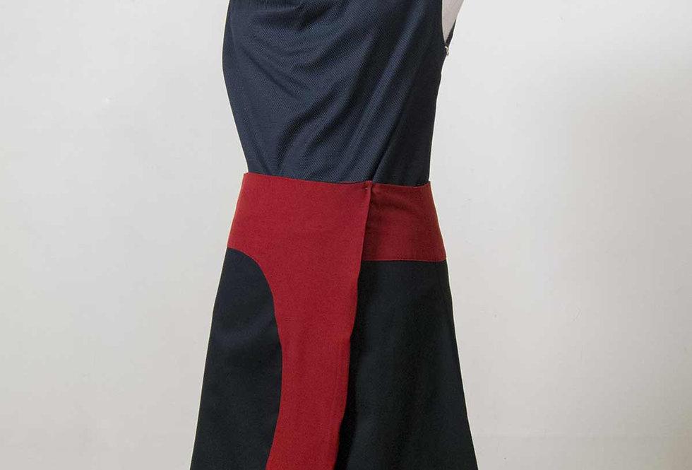 Kiki Wrap skirt in red