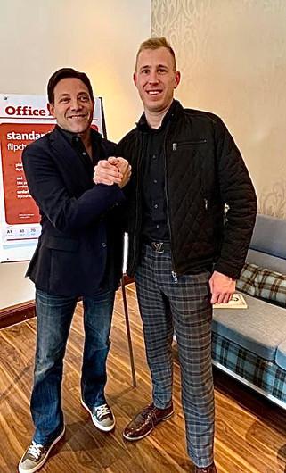 Ken Mack with Jordon Belfort