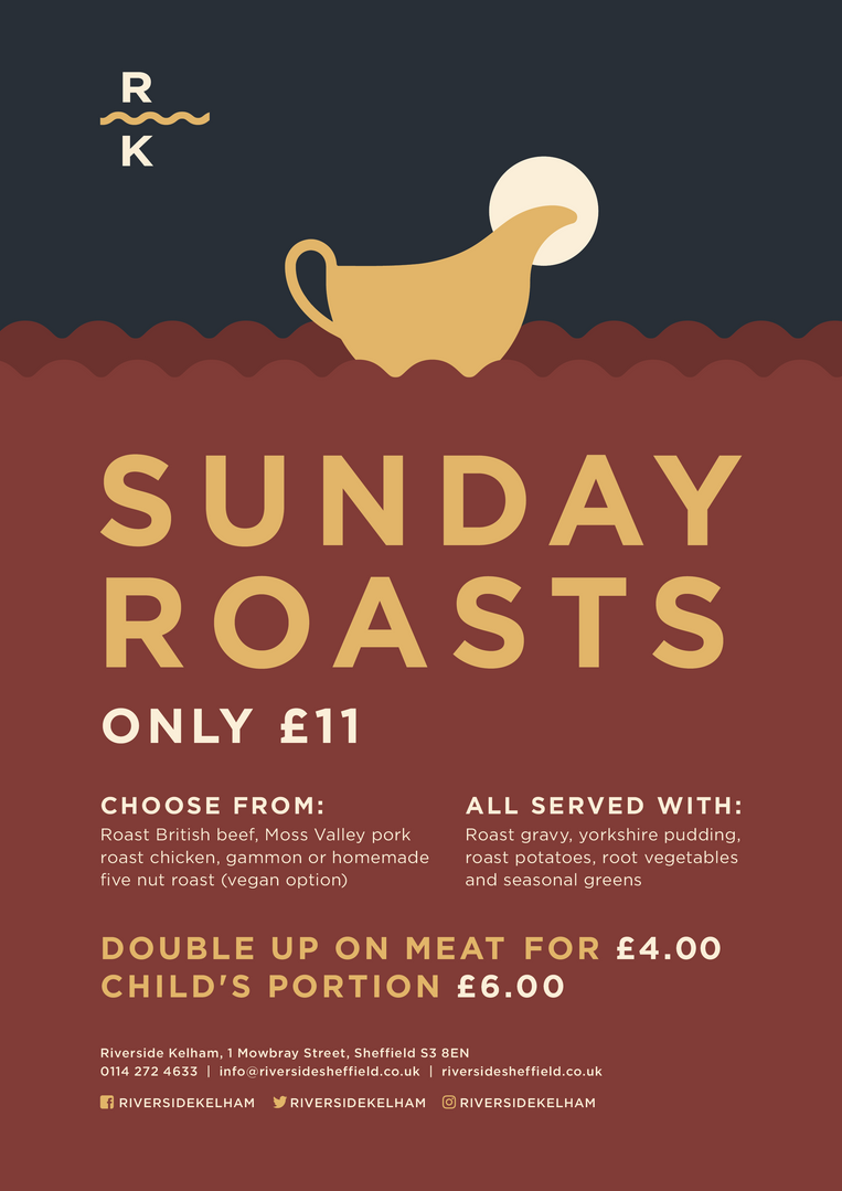 Riverside Kelham - Sunday Roasts
