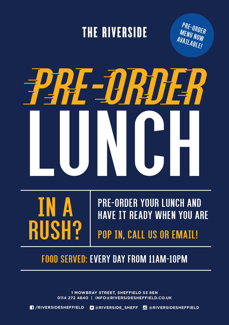 Pre-order Lunch