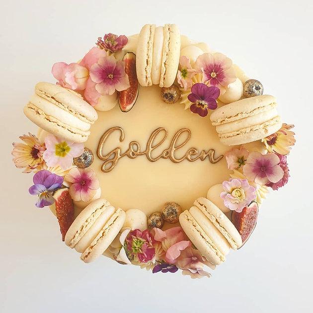 golden September cake