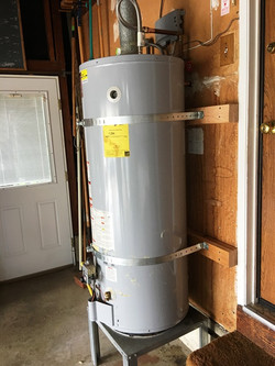 water heater strapped