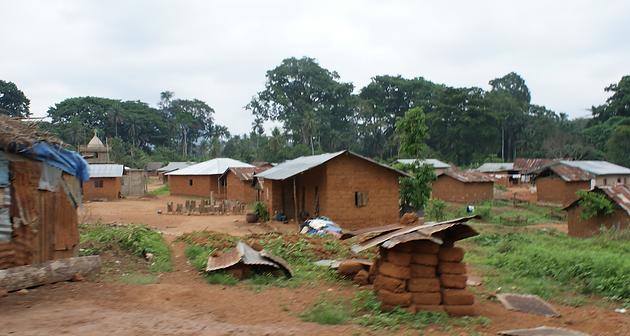 A village in Kailahun District, Sierra Leone