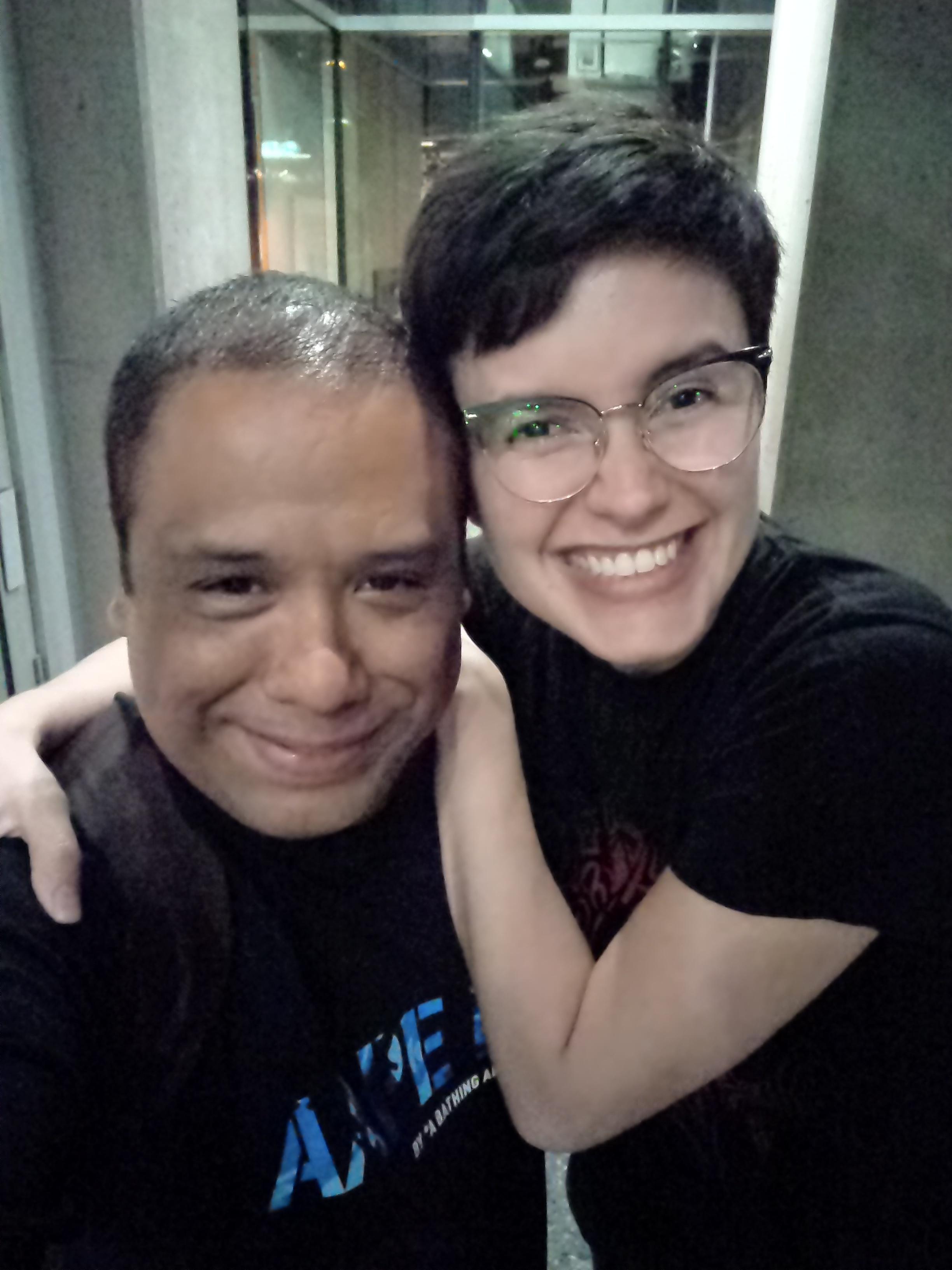 Con Alina Varela