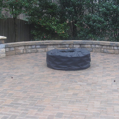 Warren Snellville Fire Pit  & Patio with Knee Wall
