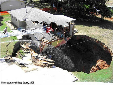Sinkhole next to home