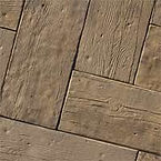 barn plank pavers come in cedar and can be found at bailey construction & landscape group