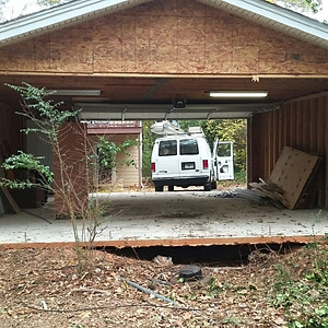 Cassidy Decatur Sinkhole Under Garage Repair