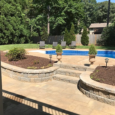 Buckland Landscape Design with Paver Patio
