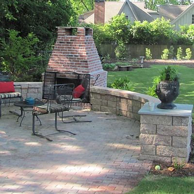 Kendrick Outdoor Fireplace & Garden