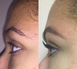 brow sculpt & lashes