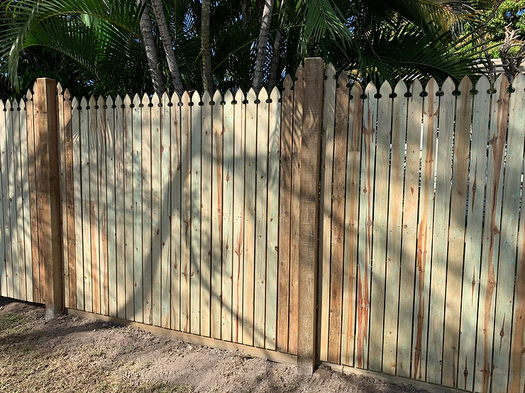 1.8m high Colonial top paling fencing wi