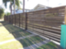 Horizontal Valleyboard slat fencing and