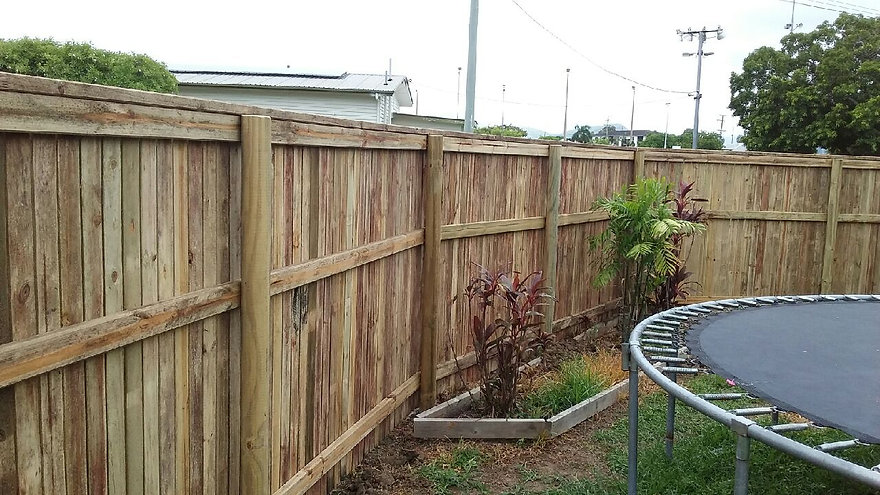 1.8m high pine paling fencing around a c