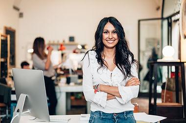 Start up of enterprise, women leader the new company self-confident.jpg