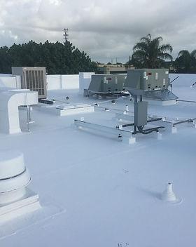 roof coating finished