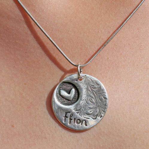 Unique Personalised fine silver Necklace