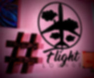 Flight Lounge Logo with hashtag sign.