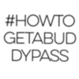 The image is of a hashtag link that says #howtogetabuddypass. Large Font, broken up over 3 stacks on top of eachother.
