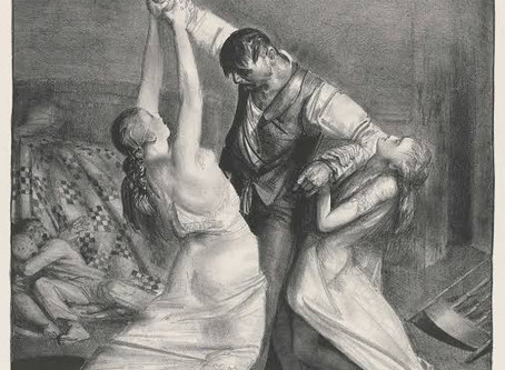 Domestic Violence and Alcoholism – George Bellows' realistic 1924 Lithograph