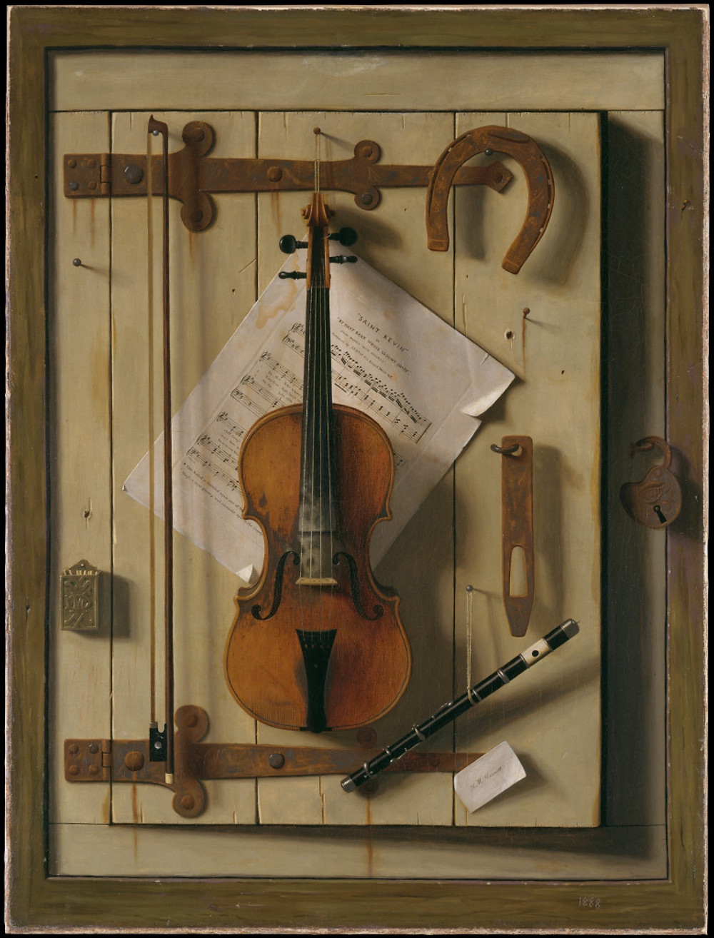 Violin and Music by William Michael Harnett, 1888