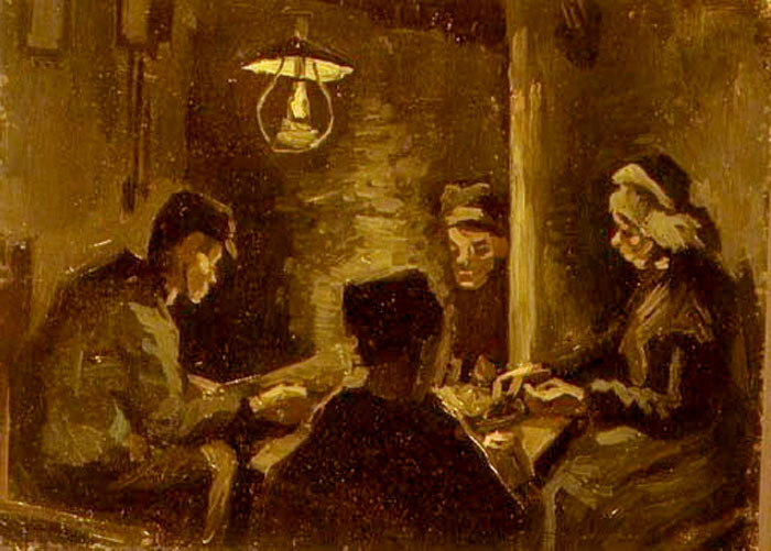 First study by Vincent Van gogh of the Potato Eaters 1885 ieclectica