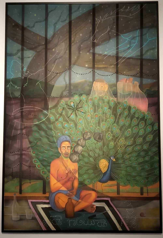 A Painting by Abul Hisham on display Gallerie Mirchandani + Steinruecke, Mumbai