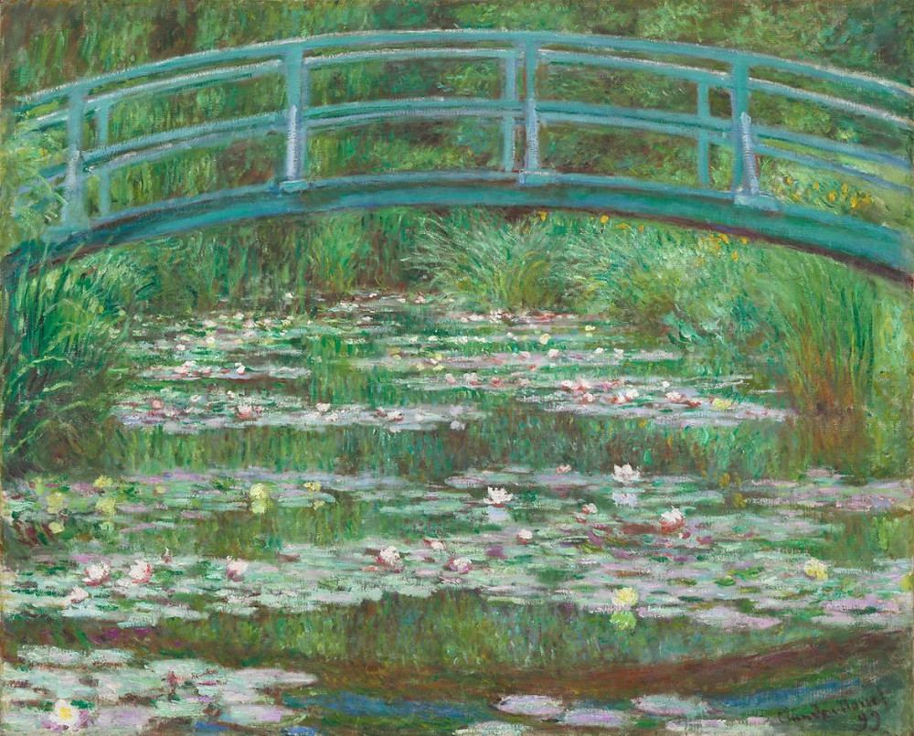 Claude Monet Japanese foot bridge for visual thinking ieclectica