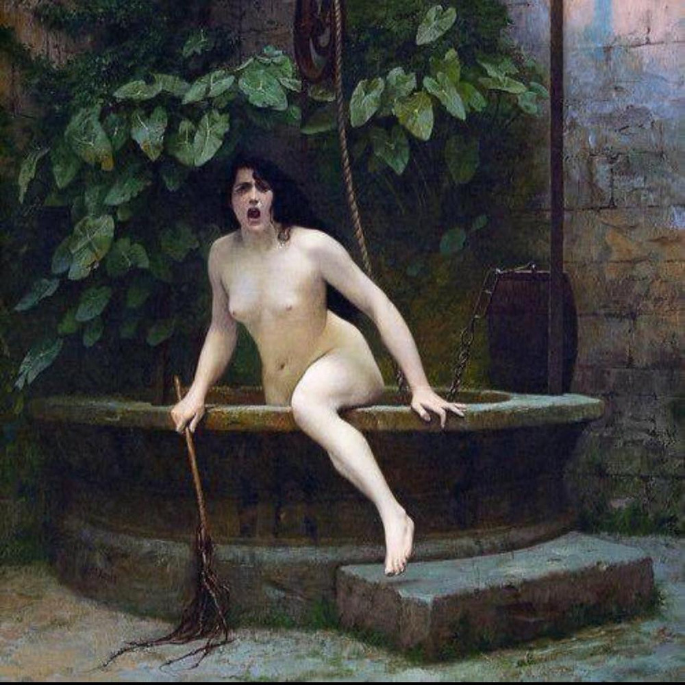 Truth coming out of her well by Jean Jerome a painting and poetry