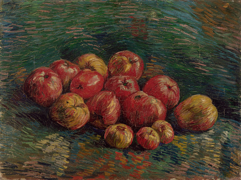 Apples by Vincent van Gogh, oil on canvas, 45.7 cm x 60.4 cm Credits: Van Gogh Museum, Amsterdam (Vincent van Gogh Foundation) visual thinking ieclectica