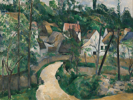 Poems from Art: Hidden Road inspired from a painting by Paul Cezanne