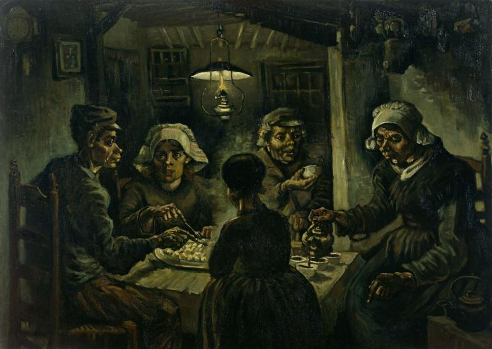 story inspired from art The potato eaters by Vincent Van Gogh ieclectica