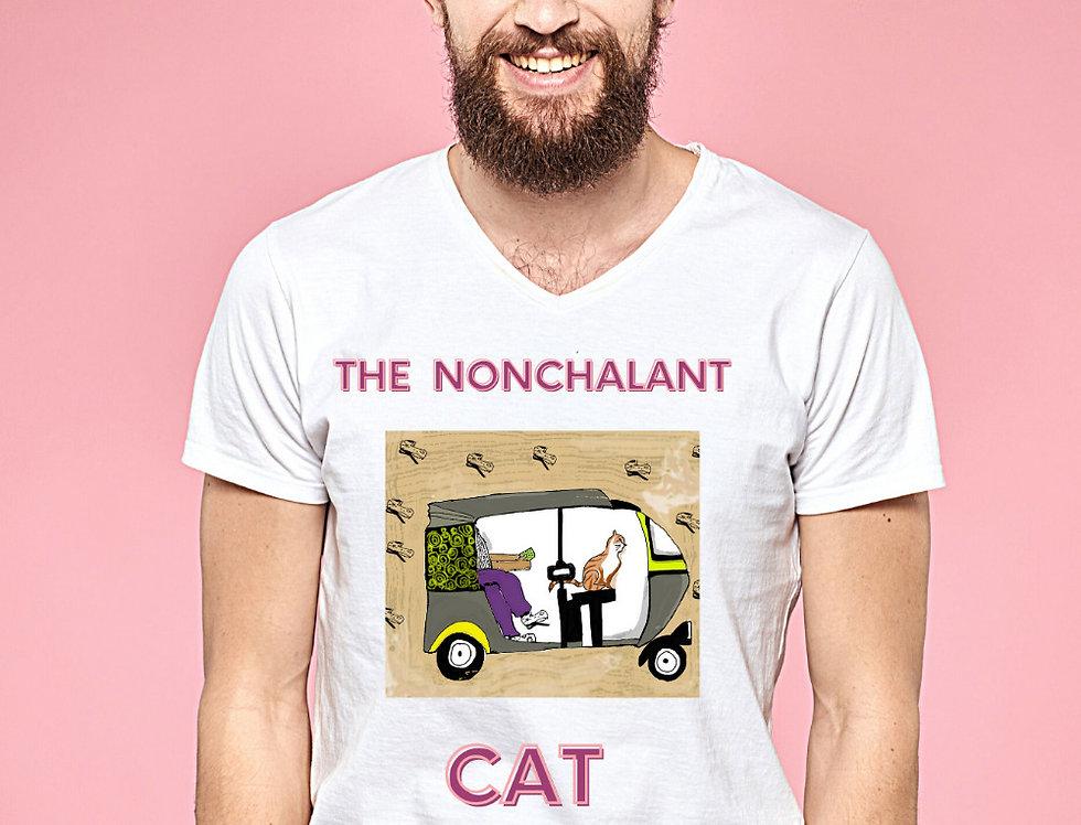 Nonchalant Cat   100% Cotton Tshirt
