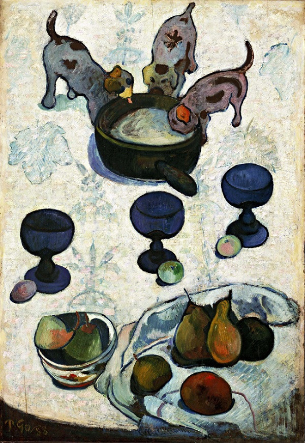 Still Life with Three Puppies , 1888 by Paul Gauguin for visual thinking