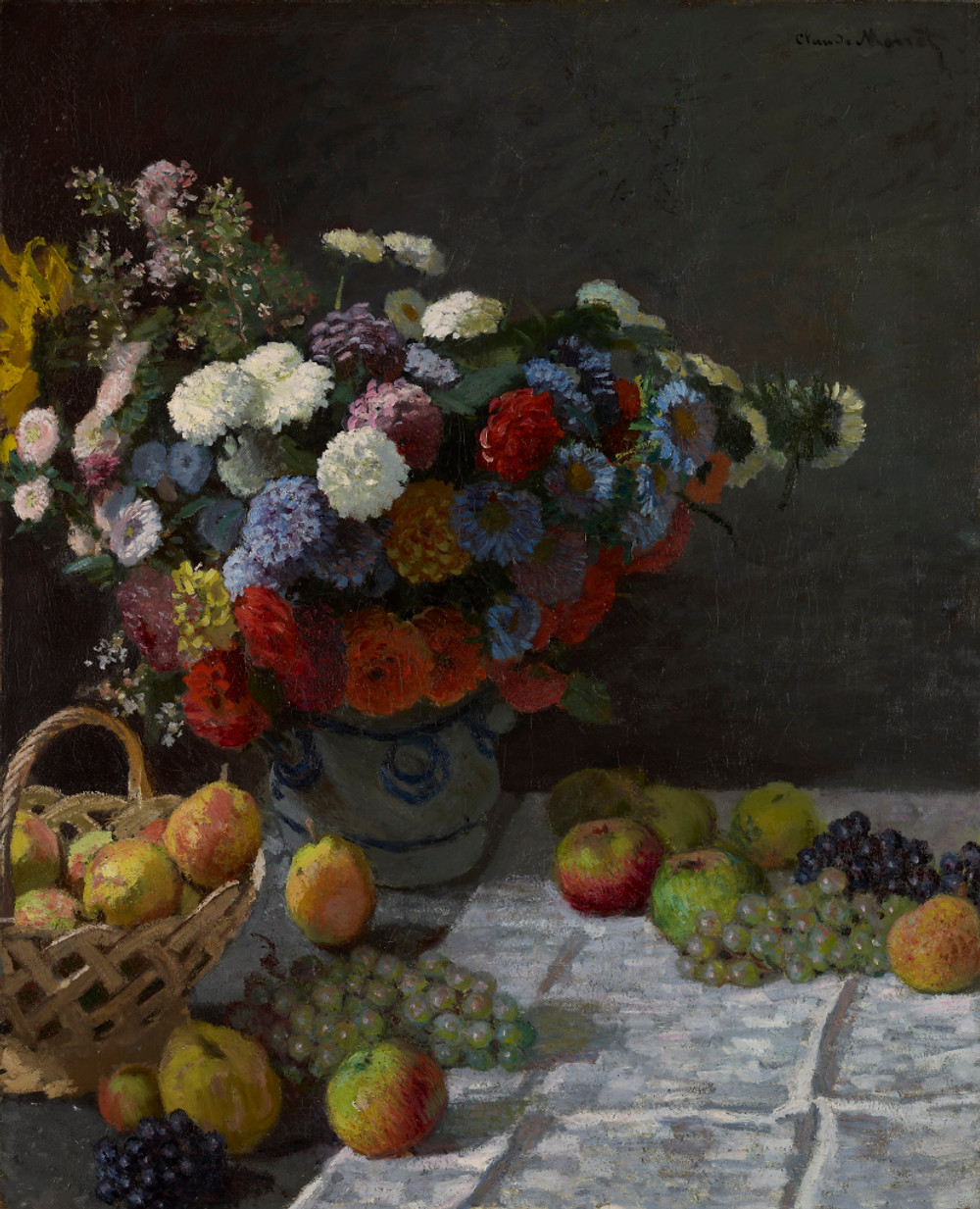 Claude Monet, Still Life with Flowers and Fruit