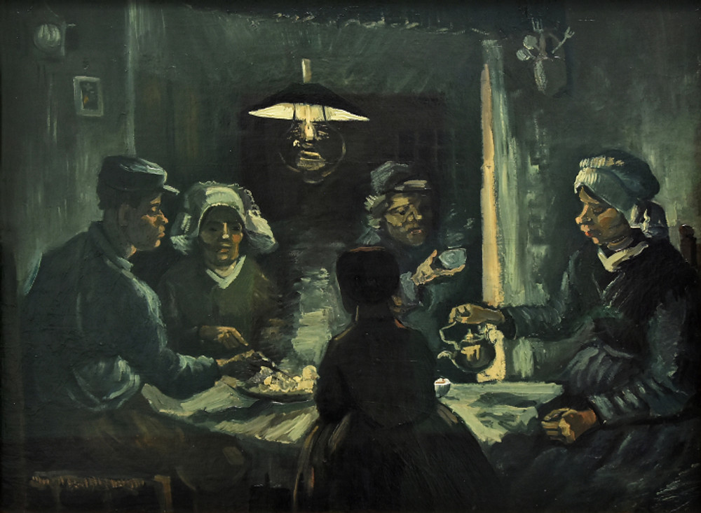 Second Study of Potato Eaters by Van Gogh Ieclectica